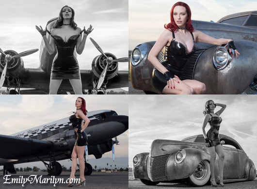 Fetish Pinup Emily Marilyn at the Bo Huff Car show