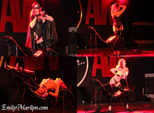 emily marilyn fetish show at avn sanctuary the lair performance in these chains