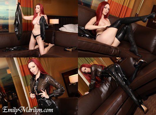 Emily Marilyn rubber goddess