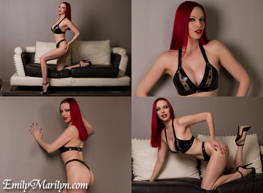 Emily Marilyn latex bikini