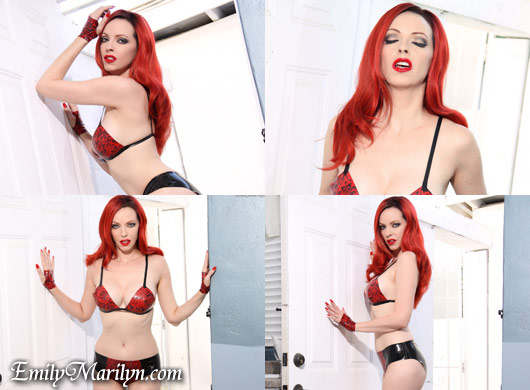 Emily Marilyn Dangerous Woman latex by Baby Love's Latex