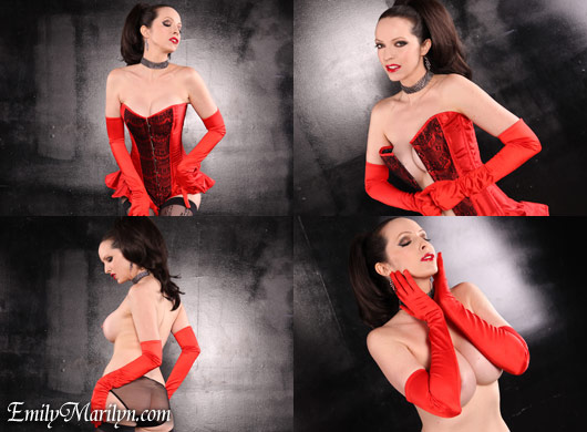 Emily Marilyn red croset