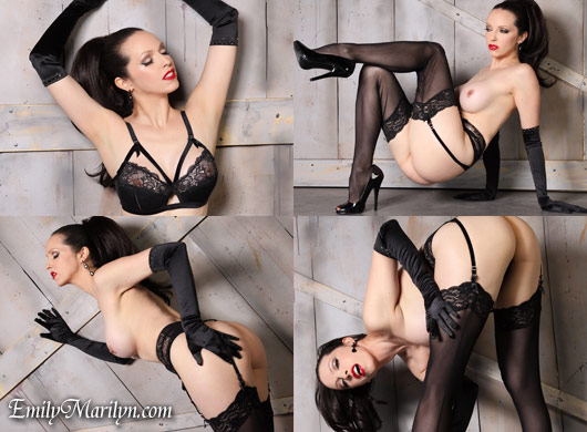 Emily Marilyn Madame X Dita vin teese lingerie stockings gloves high heels