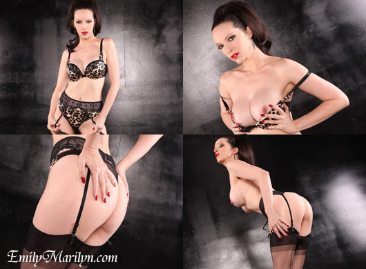 Emily Marilyn raffine dita von teese bra thong panties agent provocateur seamed stockings