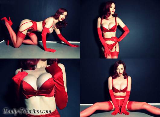 Emily Marilyn in red