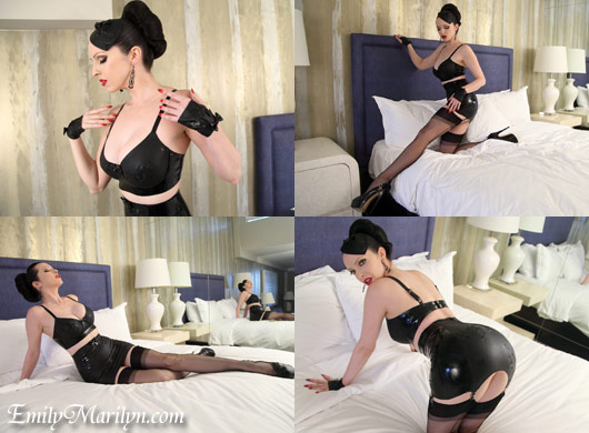 Emily Marilyn fetish in latex