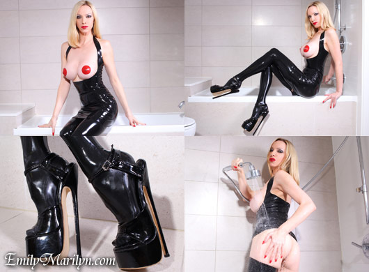 Emily Marilyn slippery & shiny