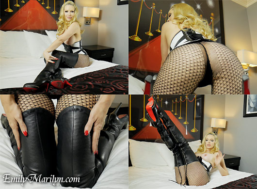 Emily Marilyn Frisky in Fishnet