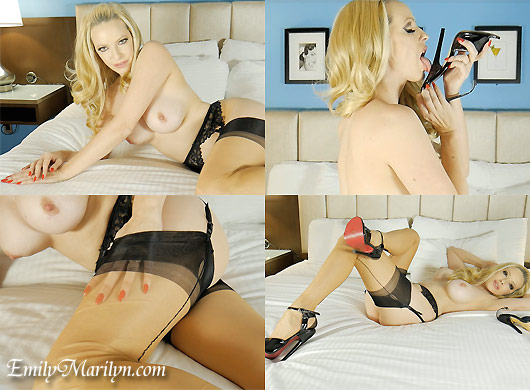 EMily Marilyn shoe high heels stockings