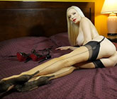 Hot masturbation video with stockings and high heels